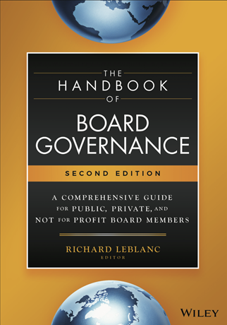 The Handbook of Board Governance Second Edition